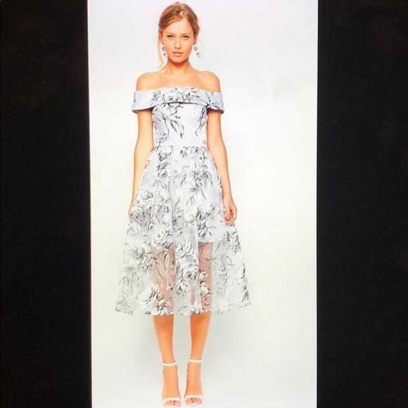 3f899a2320 ASOS Petite Dresses & Skirts - Asos Petite Salon Bardot Dress In Organza  Floral